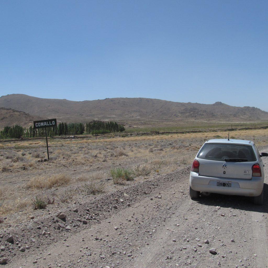 Cartel de entrada a Comallo ruta 23