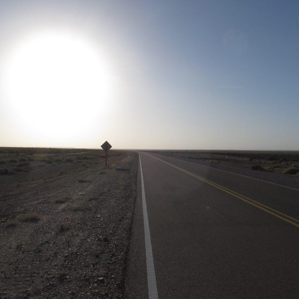 La ruta 23 asfaltada