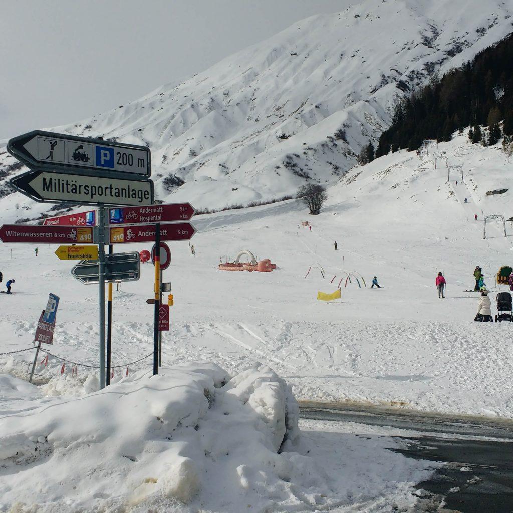 Ruta cerrada en Suiza